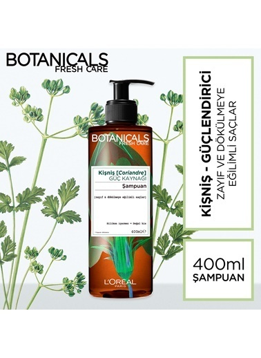 L'Oréal Paris Botanicals Fresh Care Kişniş Güç Kaynağı Şampuan 400 Ml Renksiz